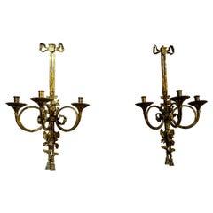 Pair of Louis XIV Bronze Sconces