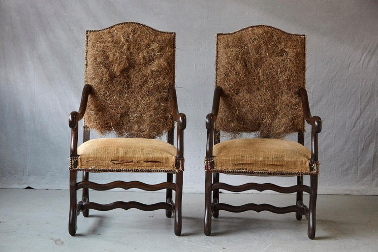 French Pair of Louis XIV Style Os de Mouton Fauteuils Styled by Michael Trapp
