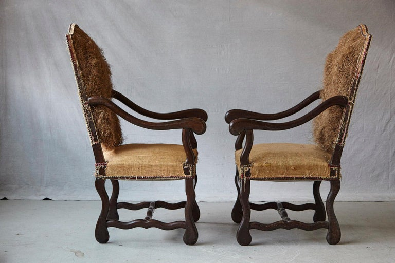 Pair of Louis XIV Style Os de Mouton Fauteuils Styled by Michael Trapp In Good Condition In Weston, CT