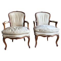 Pair of Louis XV Armchairs, 18th C