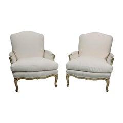 Pair of Louis XV Bergère Chairs