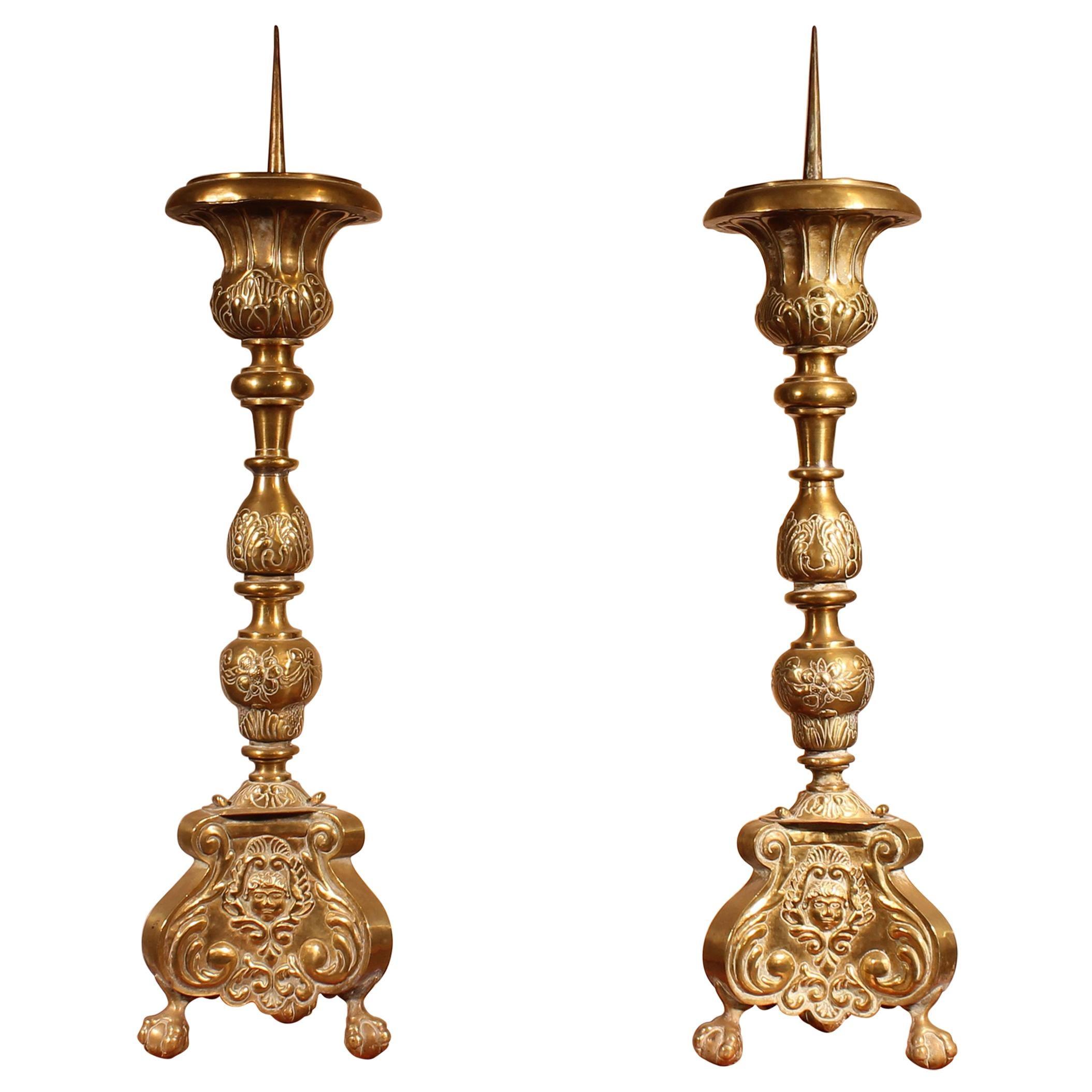 Pair of Louis XV Candlesticks, 18th Century