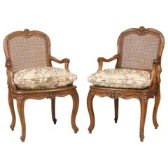 "Pair of Louis XV Fauteils, Signed ""Courtoise"", circa 1760"