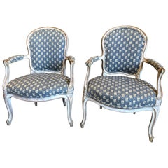 Pair of Louis XV Fauteuils, 18th Century