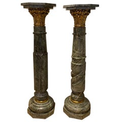 Pair of Louis XV Marble Pedestals/Stands