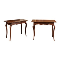 Pair of Rococo Period Walnut Console Tables, Mid-18th Century
