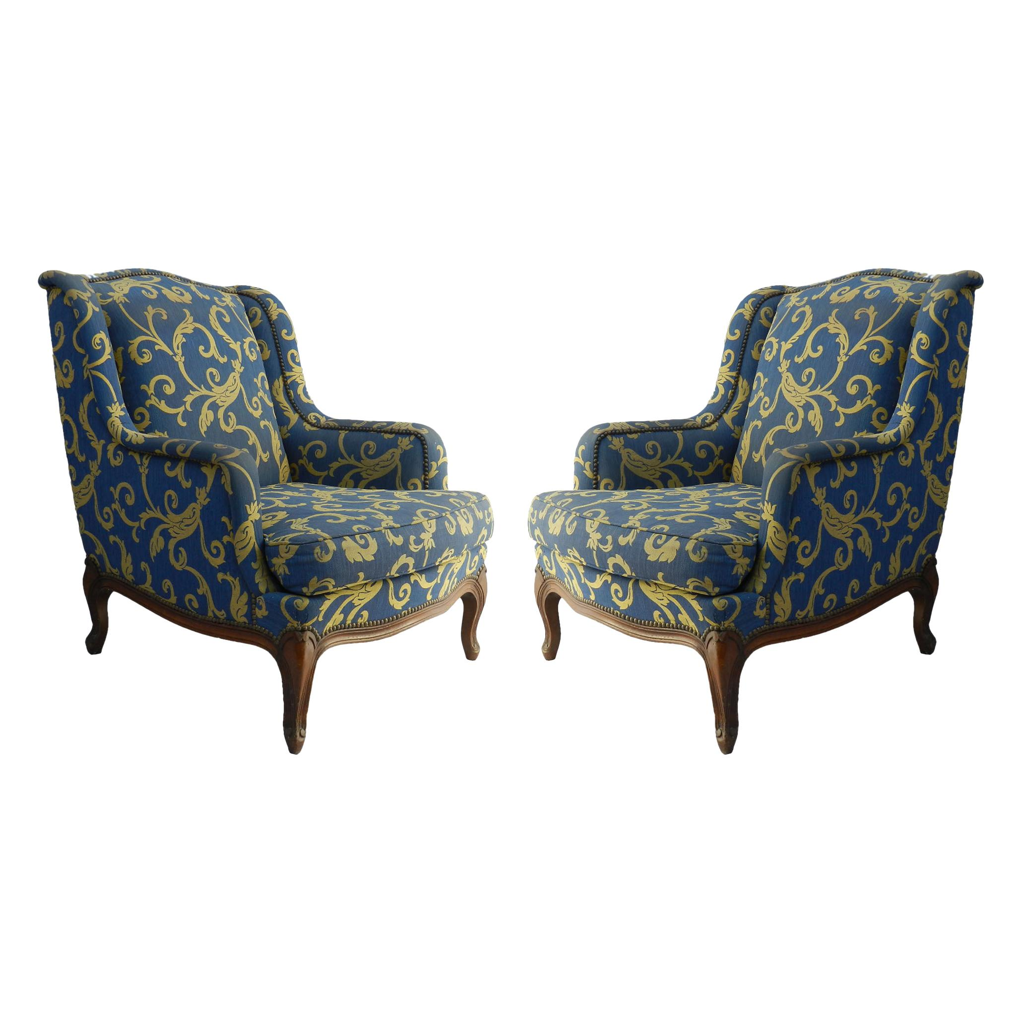 Pair of Louis XV Revival Armchairs French Early 20th Century to Recover