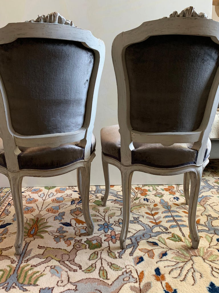 Pair of Louis XV Side Chairs, circa 1800 For Sale 3
