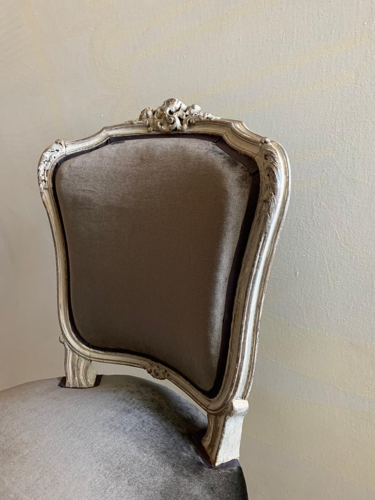 French Pair of Louis XV Side Chairs, circa 1800 For Sale