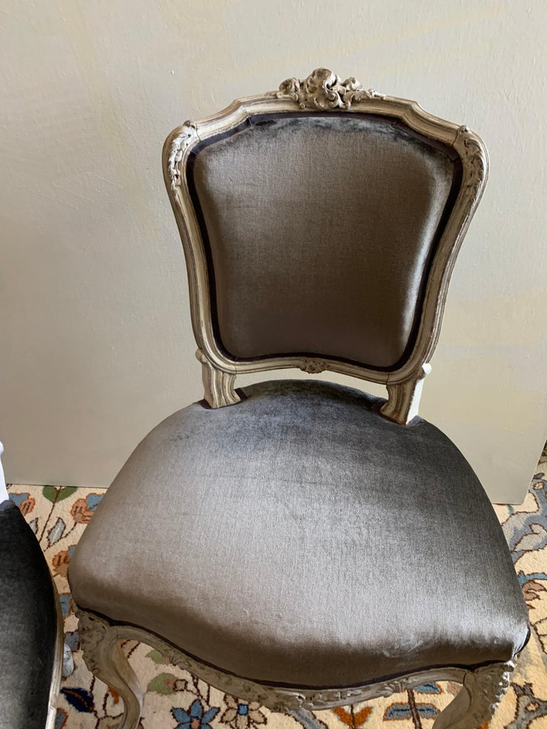 19th Century Pair of Louis XV Side Chairs, circa 1800 For Sale