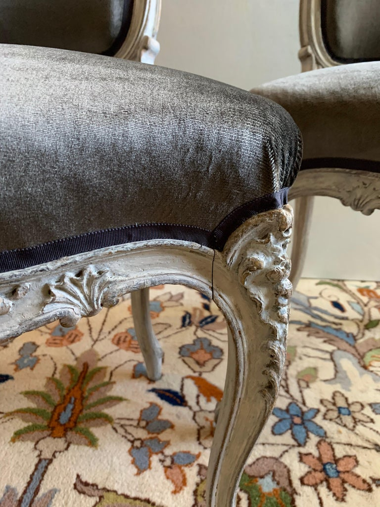 Beech Pair of Louis XV Side Chairs, circa 1800 For Sale