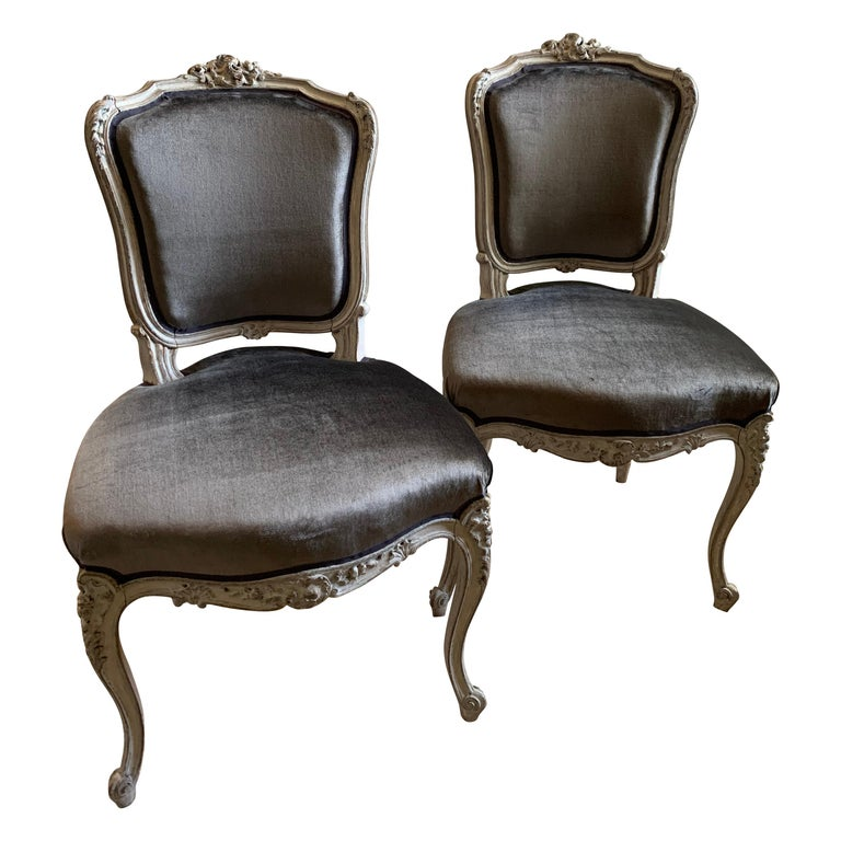Pair of Louis XV Side Chairs, circa 1800 For Sale