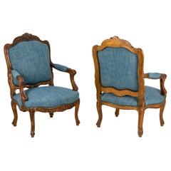 Pair of Louis XV Style Armchairs, circa 1880