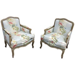 Pair of Louis XV Style Bergeres