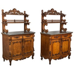 Pair of Louis XV Style Buffets or Sideboards