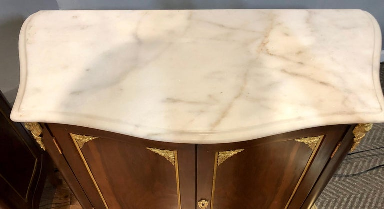 20th Century Pair of Louis XV Style Cabinets Commodes or Nightstands  For Sale