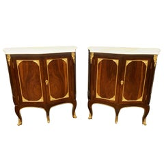 Pair of Louis XV Style Cabinets Commodes or Nightstands