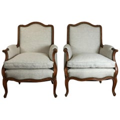Pair of Louis XV Style Club Chairs
