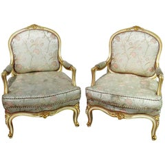 Pair of Louis XV Style Fauteuils