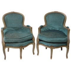 Pair of Louis XV Style Five-Legged Chairs