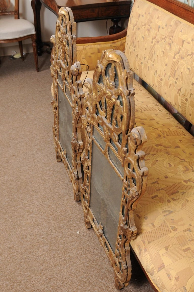 Pair of Louis XV Style French Giltwood Mirrors For Sale 5