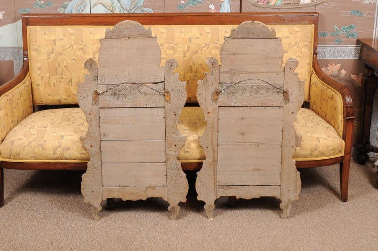 Pair of Louis XV Style French Giltwood Mirrors For Sale 6