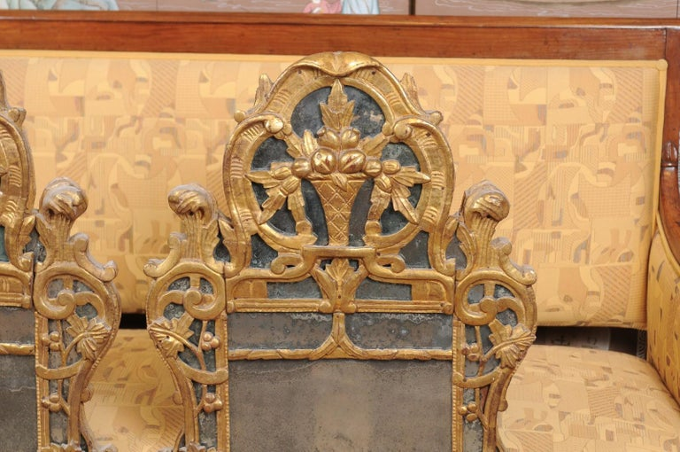 Pair of Louis XV Style French Giltwood Mirrors For Sale 1