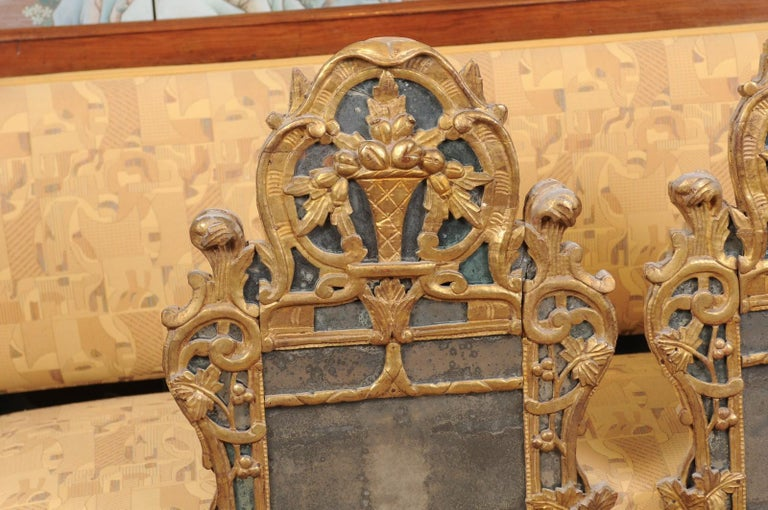 Pair of Louis XV Style French Giltwood Mirrors For Sale 2