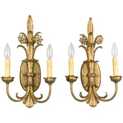 Pair of Louis XV Style French Sconces