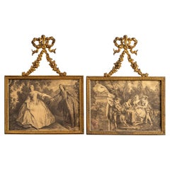 Pair of Louis XV Style Gilt Bronze Frames