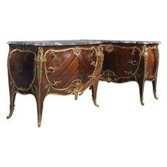 Pair of Louis XV Style Marble-Top Commodes by François Linke, circa 1891