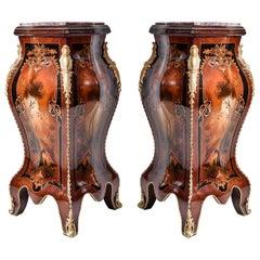 Pair Of Louis XV Style Pedestals (2 SET), 20th Century