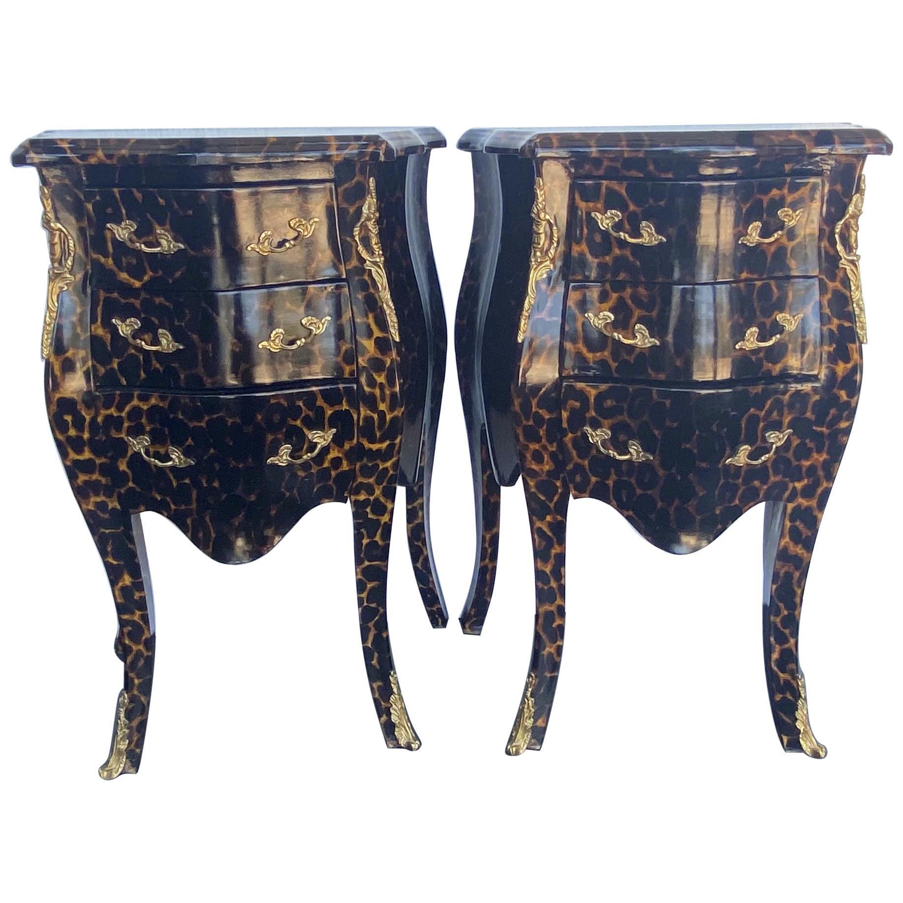 Pair of Louis XV Style Petite Nightstands