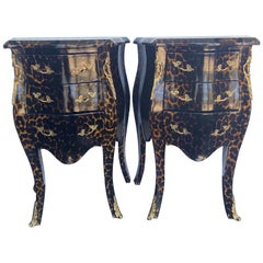 Pair of Louis XV Style Petite Nightstands
