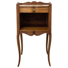 Louis XV Style Side Cabinet Nightstand French Bedside Table, Mid-Century