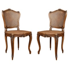 Pair of Louis XV Style Side Chairs