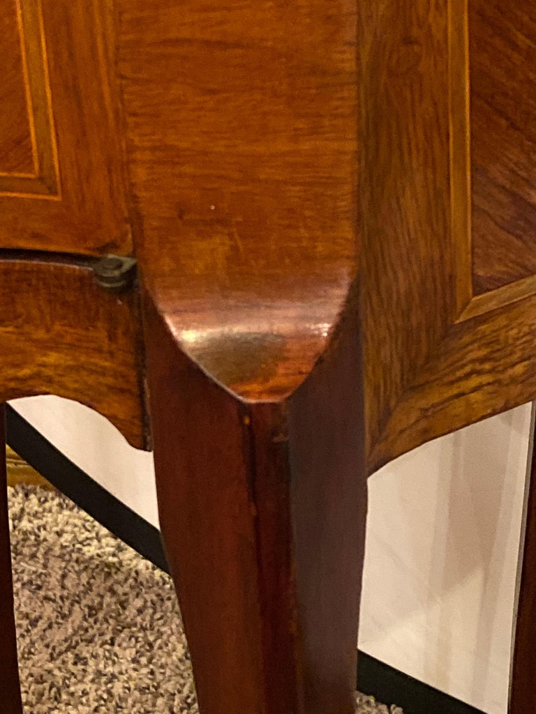 Pair of Louis XV Style Side / End Tables with Breche D'alep Original Marble Top For Sale 3