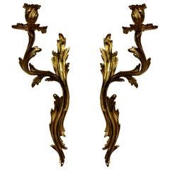 Pair of Louis XV Style Single Arm Sconces