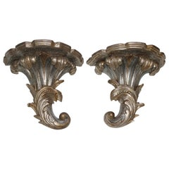 Pair of Louis XV Style Wall Brackets