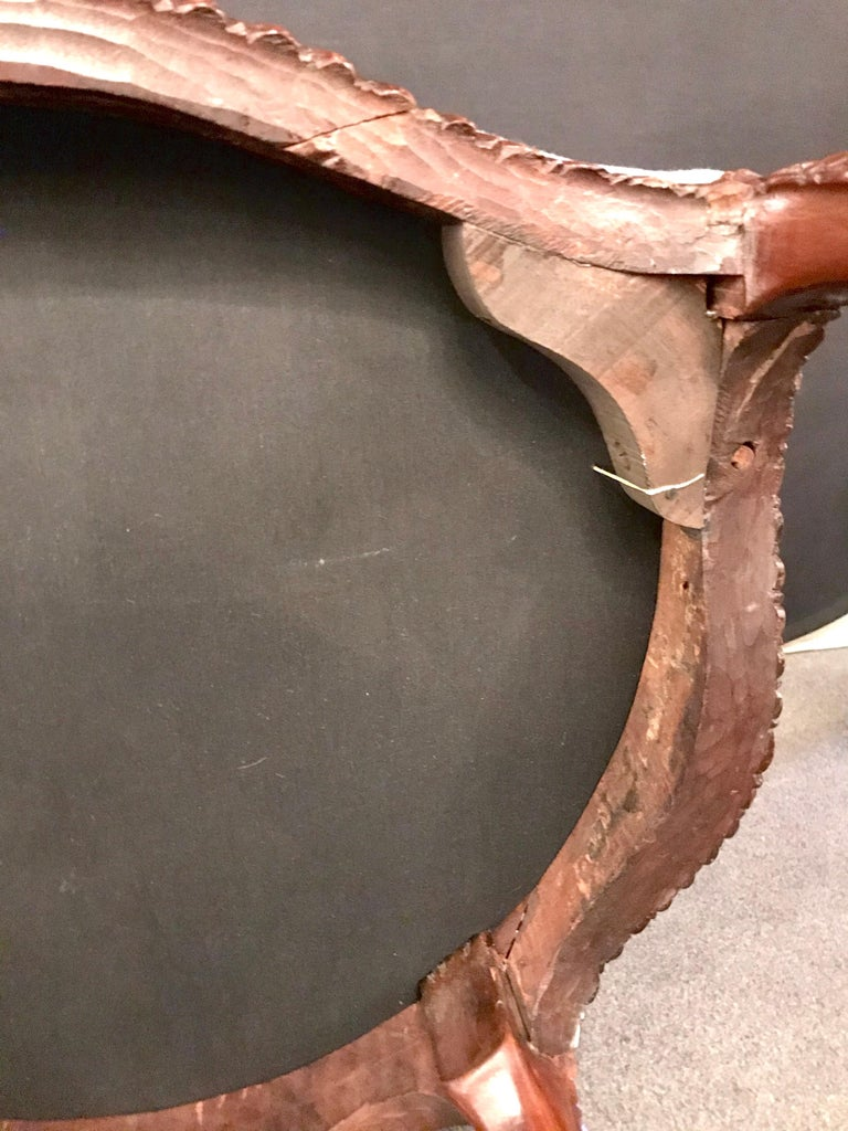 Pair of Louis XV Style Walnut Fauteuils or Bergères in a Scalamandre Fabric For Sale 14