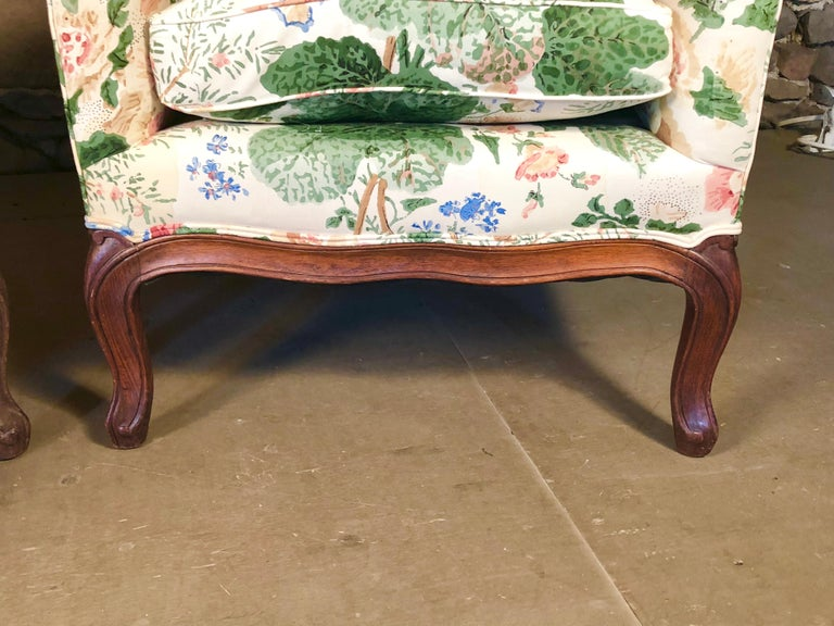 Pair of Louis XV Upholstered Armchairs, 18th Century For Sale 7
