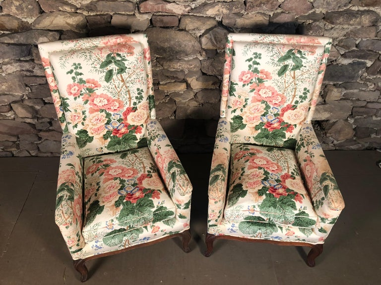 Pair of Louis XV Upholstered Armchairs, 18th Century For Sale 11
