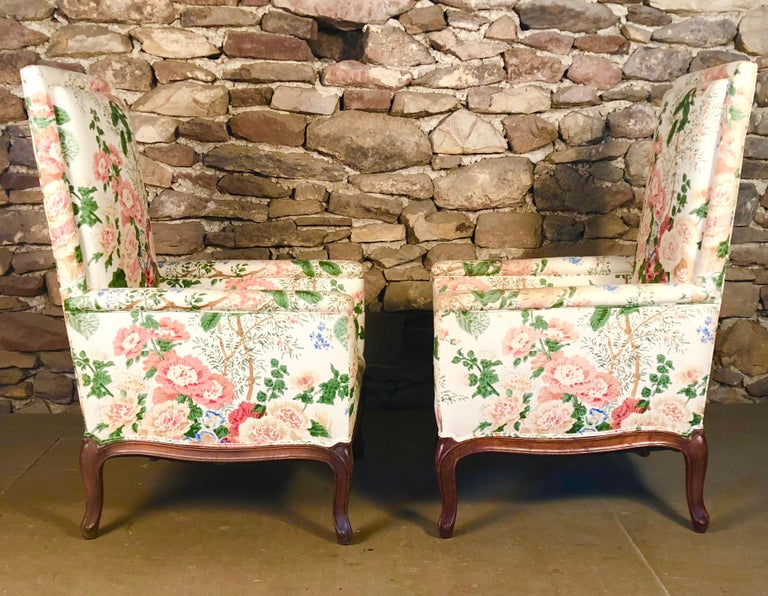 Pair of Louis XV Upholstered Armchairs, 18th Century In Good Condition For Sale In Doylestown, PA