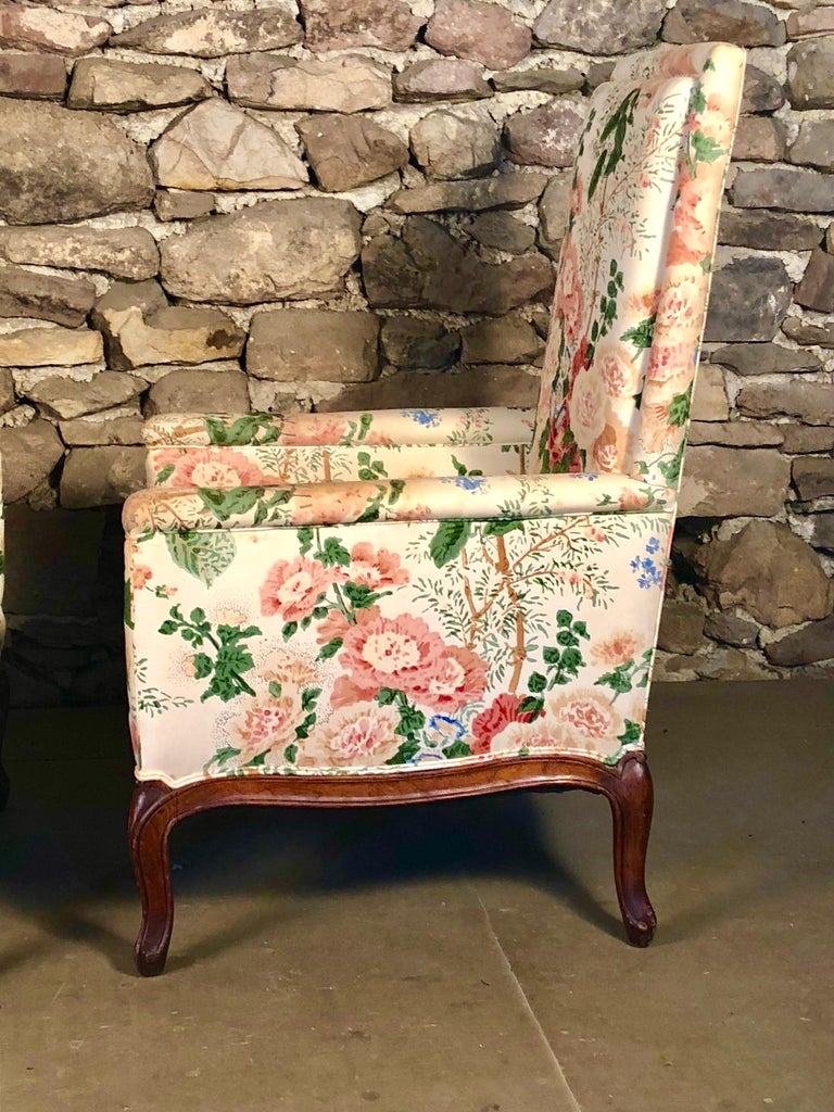 Pair of Louis XV Upholstered Armchairs, 18th Century For Sale 1