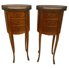 Pair of Louis XV/XVI Oval Occasional Tables