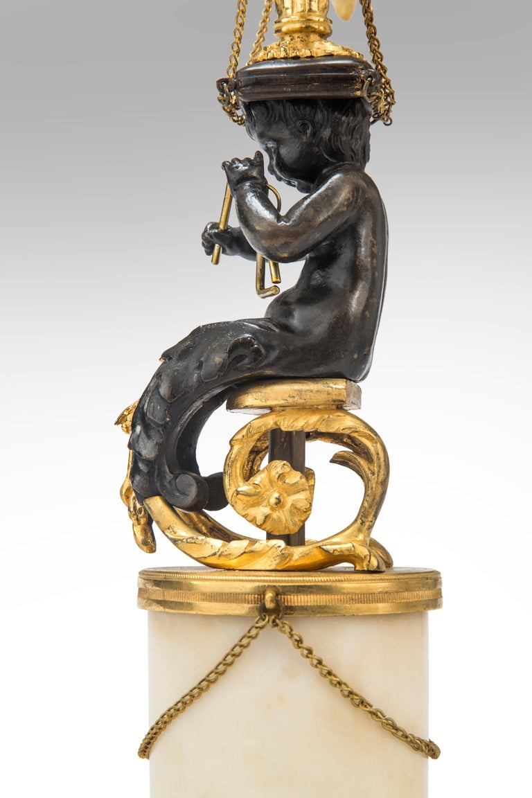 Gilt Pair of Louis XVI Candelabra For Sale