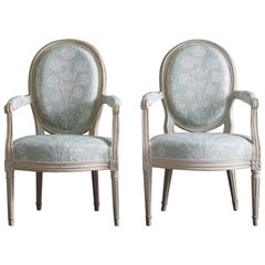 Pair of Louis XVI Chairs from the Workshop of Barthelemy Denis Chardon