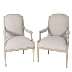 Pair of Louis XVI Fauteuils Chairs
