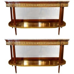 Pair of Louis XVI Jansen Style Console Tables or Sideboards