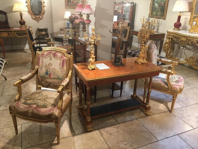 Upholstery Pair of Louis XVI Period Giltwood and Tapestry Armchairs For Sale